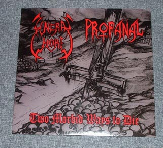 "FUNERAL WHORE/PROFANAL split 7""EP"