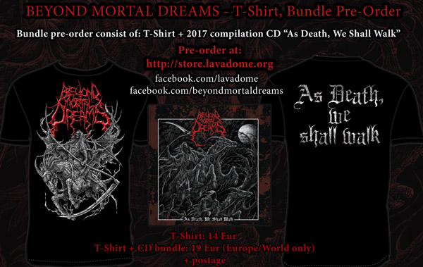 Beyond Mortal Dreams T-Shirt/Bundle Pre-Order